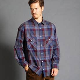 ヴィタル ムッシュ ニコル vital MONSIEUR NICOLE ビッグシルエットチェックシャツ (67ネイビー)