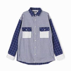 ヴィタル ムッシュ ニコル vital MONSIEUR NICOLE クレイジーパターンオーバーシャツ (92その他3)