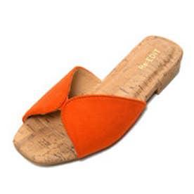 リエディ Re:EDIT セパレートデザインフラットサンダル (オレンジ)