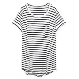 リエディ Re:EDIT ポケット付きTシャツ (ホワイト×ブラック)