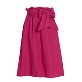 リエディ Re:EDIT 麻レーヨンウエストリボンスカート (ピンク)