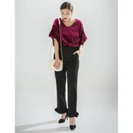 リエディ Re:EDIT ポンチ裾フリルパンツ (ブラック)