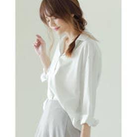 リエディ Re:EDIT オーバーサイズベーシックシャツ (無地ホワイト)