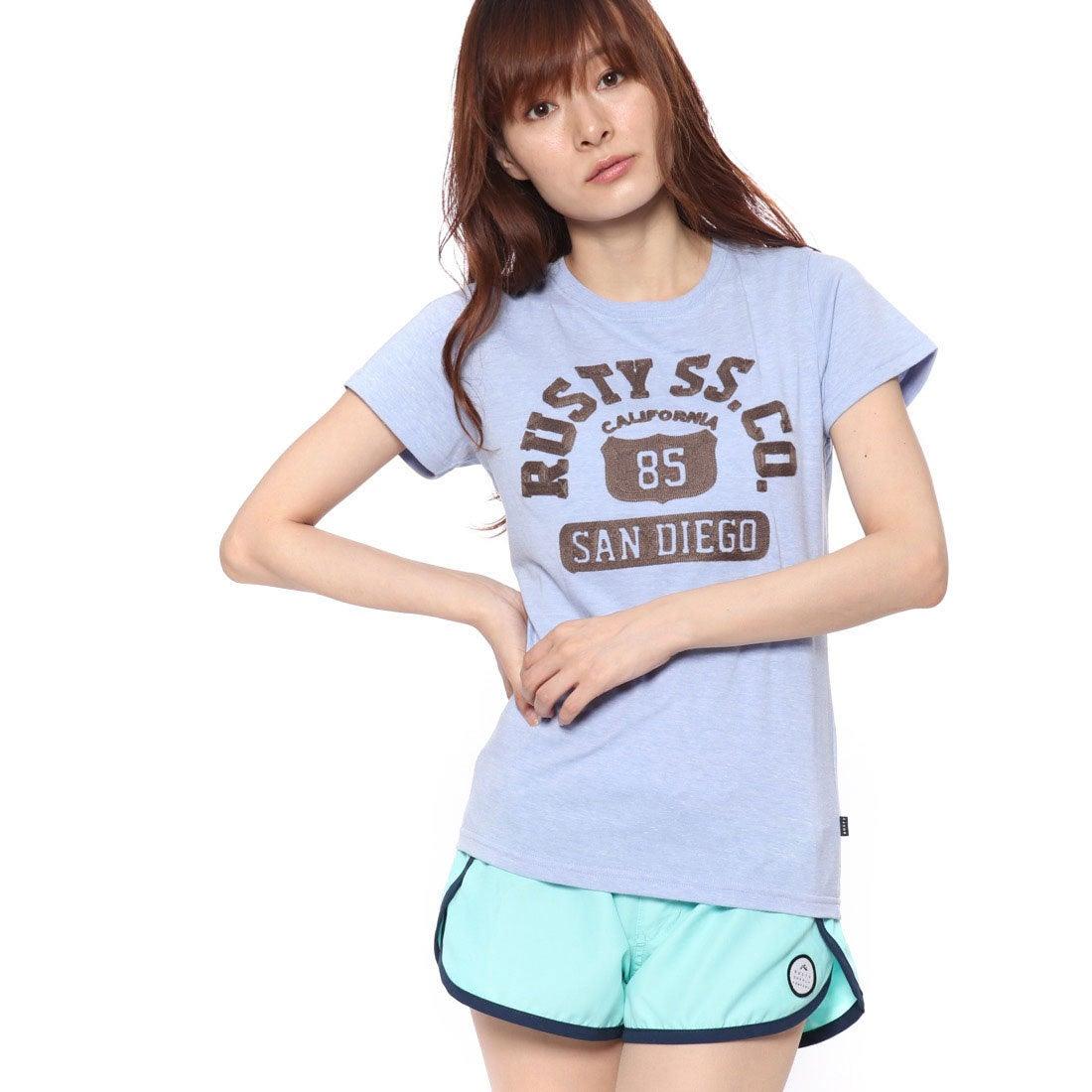 ラスティRUSTYレディスTシャツ(PUR)