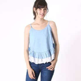 スピーガ SPIGA ダンガリー裾フリルレイヤードキャミ (ブルー)