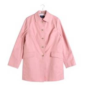 ニューヨーカー NEWYORKER ステンカラー Aラインスプリングコート (ピンク)
