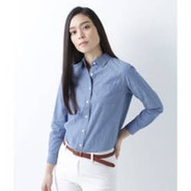 ニューヨーカー NEWYORKER 【コットン100%】ダンガリー レギュラーカラーシャツ (ブルー)