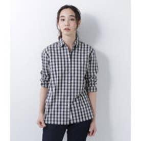 ニューヨーカーブルー NEWYORKER BLUE オリジナルミニチェック コットンブロードギャザーチュニックシャツ (イエロー)