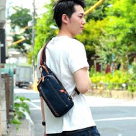 オティアス Otias 【日本製】高密度ナイロンツイル×レザー ボディバッグ/ワンショルダーバッグ ヌメ革 (NV)