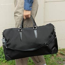 オティアス Otias 1680デニールナイロン×白化レザータイプ合皮 2WAYボストンバッグ/ショルダーバッグ(BK)