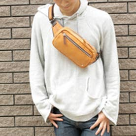 オティアス Otias 【日本製】シュリンクレザーオイル仕上げ×ヌメ革 ヨコ型ボディバッグ/ショルダーバッグ(OR)