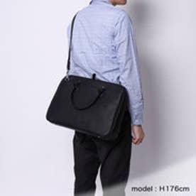 オティアス Otias シュリンクレザータイプ合皮 2WAYビジネスバッグ/ブリーフケース (ブラック)