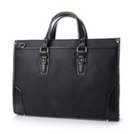 オティアス Otias 綿カツラギウレタンコーティング×合皮 2WAYビジネスバッグ/ブリーフケース (ブラック)