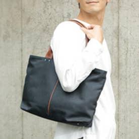 オティアス Otias 【日本製】ナイロン×ポリエステル混紡ツイル×レザー トートバッグ (ネイビー)