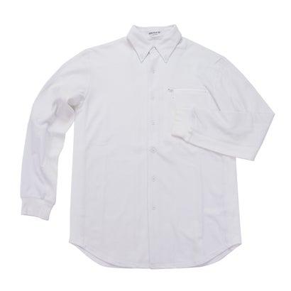 ワークウェアスーツ WORK WEAR SUIT 長袖リブコンビシャツ (ホワイト)