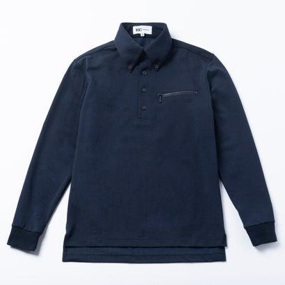 ワークウェアスーツ WORK WEAR SUIT 長袖ワークビズポロシャツ (ネイビー)