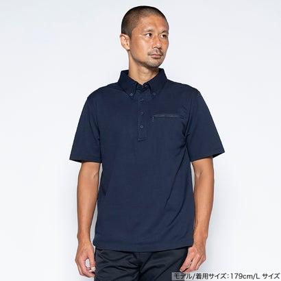 ワークウェアスーツ WORK WEAR SUIT 半袖ワークビズポロシャツ (ネイビー)