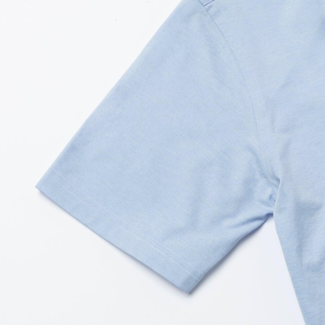 究極の半袖ボタンダウンシャツ (サックスブルー)