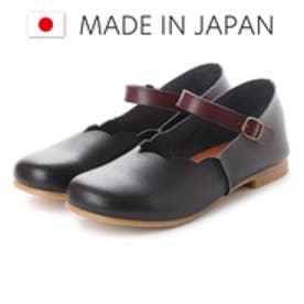 ラブ ピクル RUB PICLE 日本製/ナチュラル人工皮革2WAYフラワーカットシューズ (BLACK)
