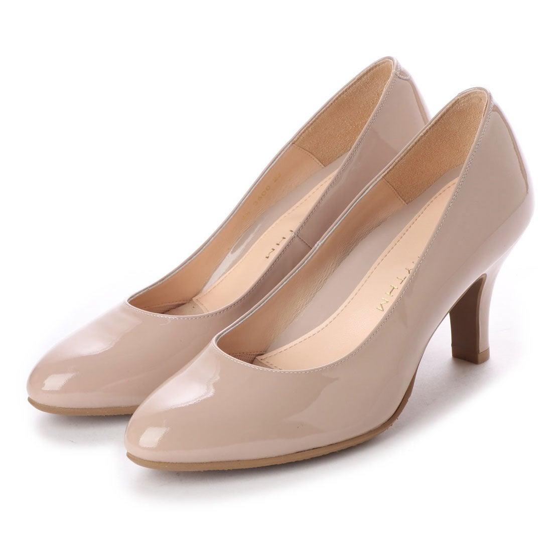 ネオリズム NEO RHYTHM 【ジェルパッド搭載】ラウンドトゥパンプス (ベージュエナメル),She \u0026 Shoe , オギツ公式通販