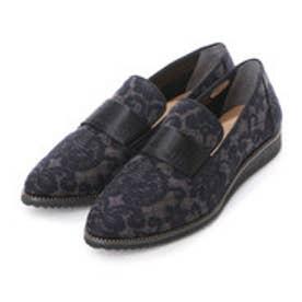 アンタイトル シューズ UNTITLED shoes ポインテッドローファー UT8721 (ブラックファブリック)