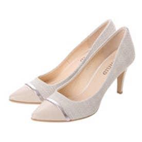 アンタイトル シューズ UNTITLED shoes 素材切り替えパンプス UT6325 (オフホワイトファブリック)