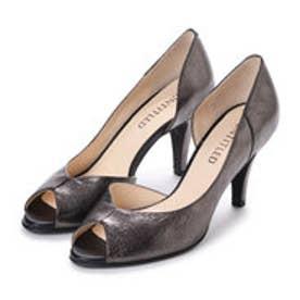 アンタイトル シューズ UNTITLED shoes オープントゥパンプス (ブラックメタリック)