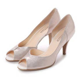 アンタイトル シューズ UNTITLED shoes オープントゥパンプス (ホワイトゴールド)