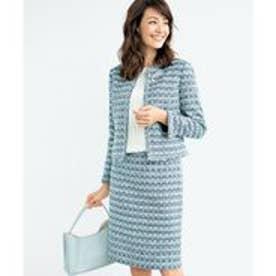 23区 【セットアップ対応】ULLSWATER ファンシーツイード スカート (ネイビー系1)
