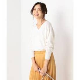 23区 【洗える!】コットンウール ニット (ホワイト系)