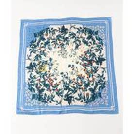 23区 ボタニカルプリント スカーフ (ブルー系1)