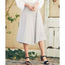 23区 【洗える】ALBIATEコットンサテン ラップスカート (ライトグレー系1)