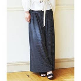 23区 【洗える】POLKA DOT PRINT パンツ (ブラック系1)