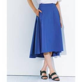 23区(大きいサイズ) 【洗える】コットンタイプライター スカート (ブルー系)
