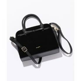 any SiS 【ショルダー付き】リボンスエードミニボストン バッグ (ブラック系)