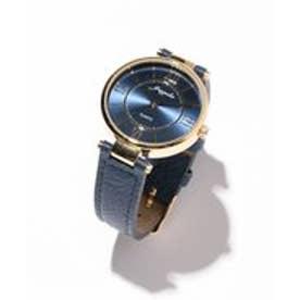 any SiS エレガントレトロモチーフ ウォッチ(腕時計) (ネイビー系)