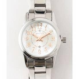 any SiS 【ロゴ入り】サークルフェイス ウォッチ(腕時計) (シルバー系)