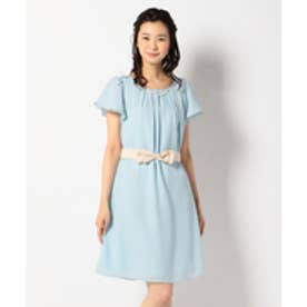 any SiS 【2WAY・洗える】フレアジョーゼット ドレス (スカイブルー系)