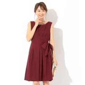 any SiS 【洗える】ジョーゼットリボン ドレス (ワイン系)