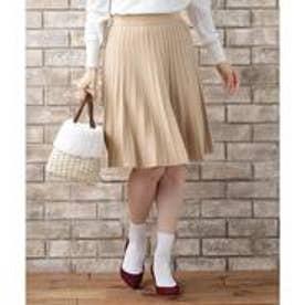any SiS 【洗える】ストライプポイント スカート (ブラウン系)