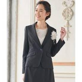 any SiS 【洗えるスーツ】ウォッシャブルT/Wスーツ テーラードジャケット (ブラック系)