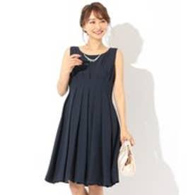 any SiS 【洗える】レディタックシフォン ドレス (ネイビー系)
