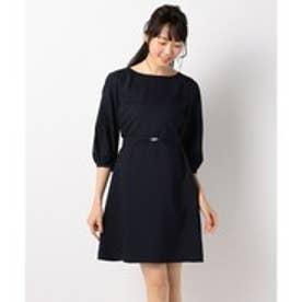 any SiS 【洗える】レーススリーブサックワンピース ドレス (ネイビー系)