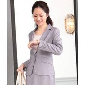 any SiS 【洗える】T/Rウォッシャブルスーツ テーラードジャケット (ライトグレー系1)