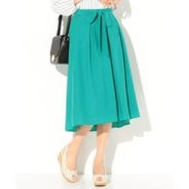 any SiS 【洗える】フィッシュテールカラー スカート (グリーン系)
