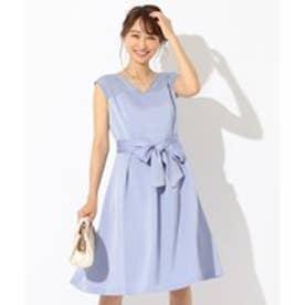 any SiS 【洗える】スカラネックレース ドレス (スカイブルー系)