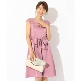 any SiS 【洗える】スカラネックレース ドレス (ライラック系)