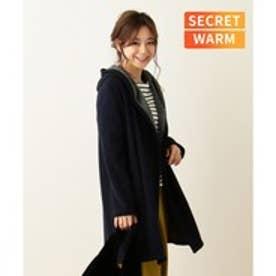 any FAM 【SECRET WARM】裏シャギー コーディガン (ネイビー系)