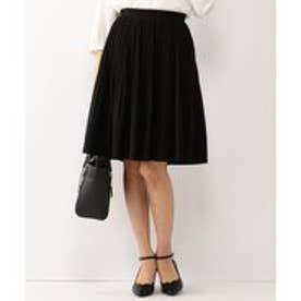 Feroux 【セレモニー】【洗える】フラワレースプリーツ スカート (ブラック系)
