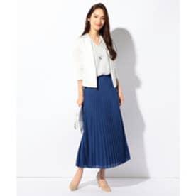 ICB 【洗える】Spun Pleats スカート (ブルー系)